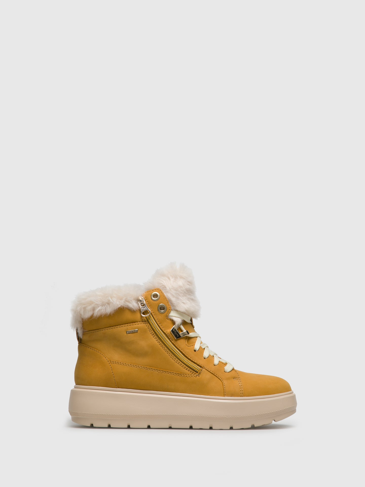 Geox Yellow Zip Up Ankle Boots