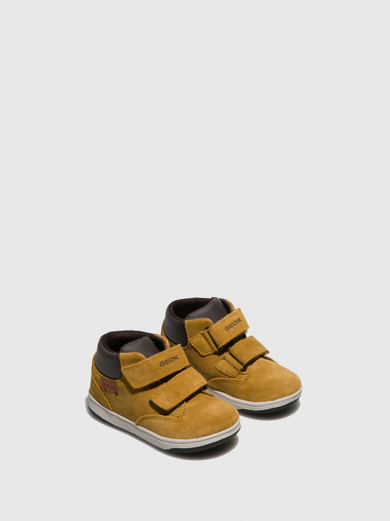 Geox Yellow Velcro Boots