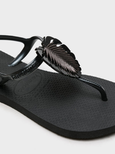 Havaianas Black Appliqués Sandals