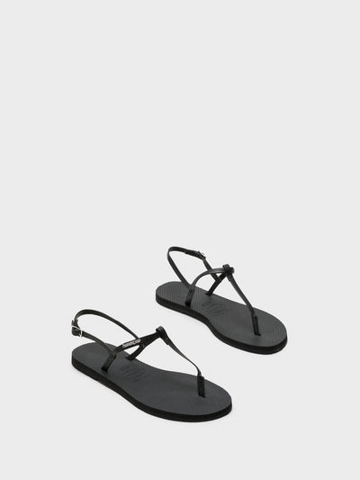 Havaianas Black Buckle Sandals