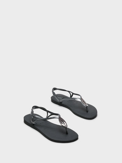 Havaianas Gray Sling-Back Sandals