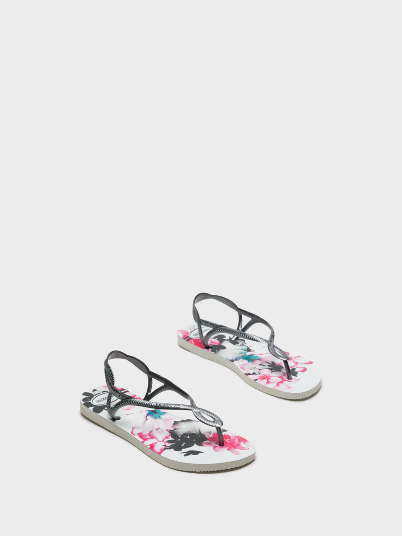Havaianas White Sling-Back Sandals
