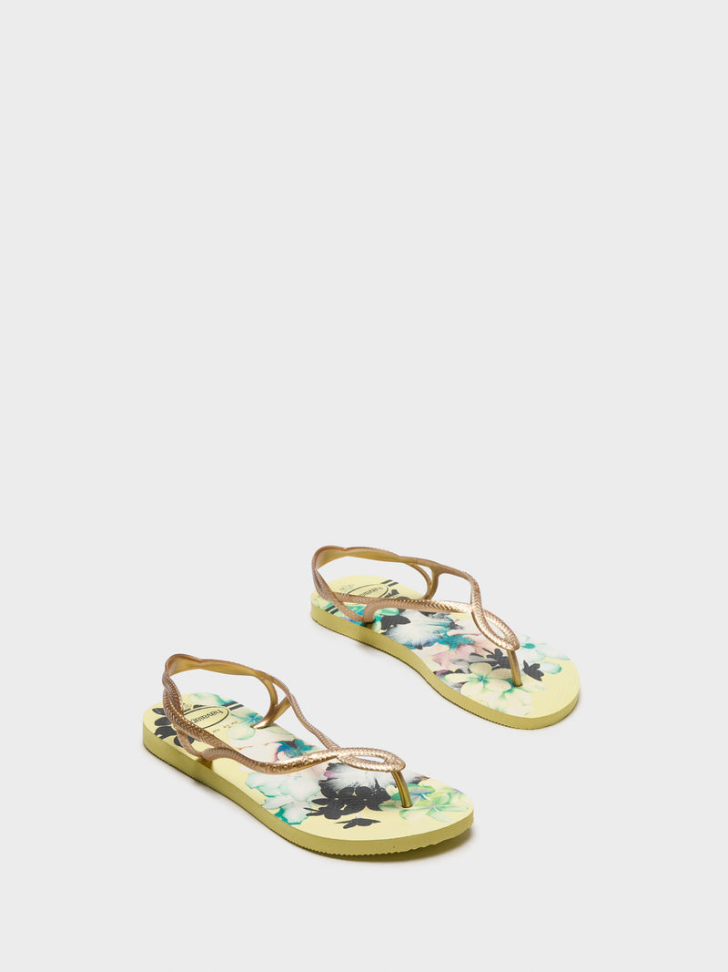 Havaianas Yellow Sling-Back Sandals