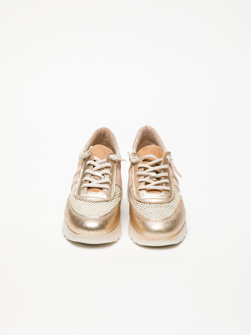 Gold Wedge Trainers