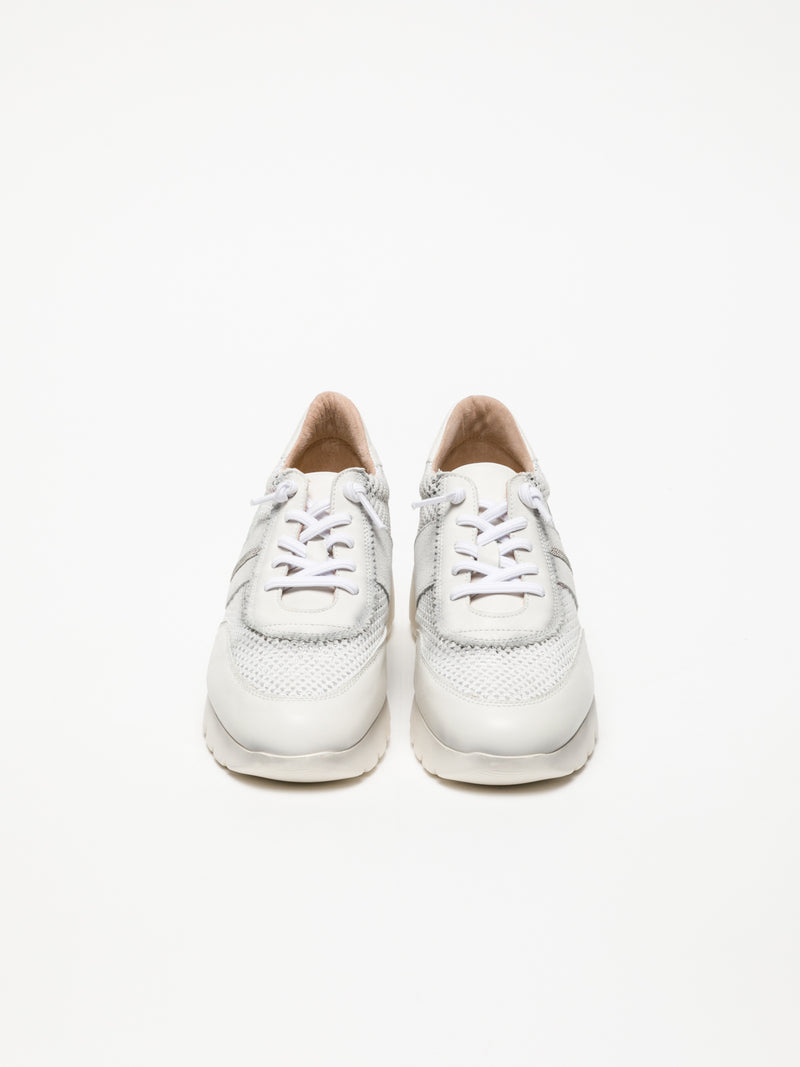 Hispanitas White Wedge Trainers