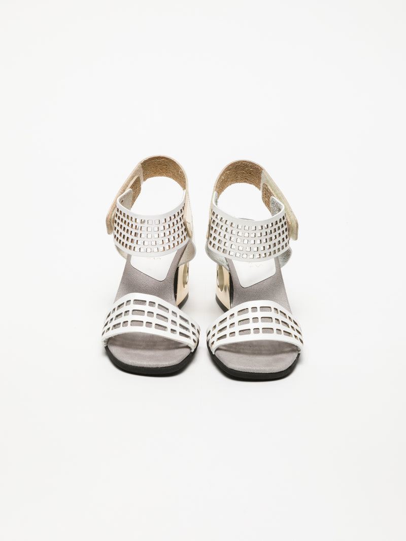 Hispanitas White Heel Sandals