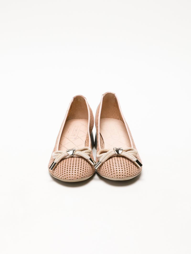 Hispanitas Beige Bow Ballerinas