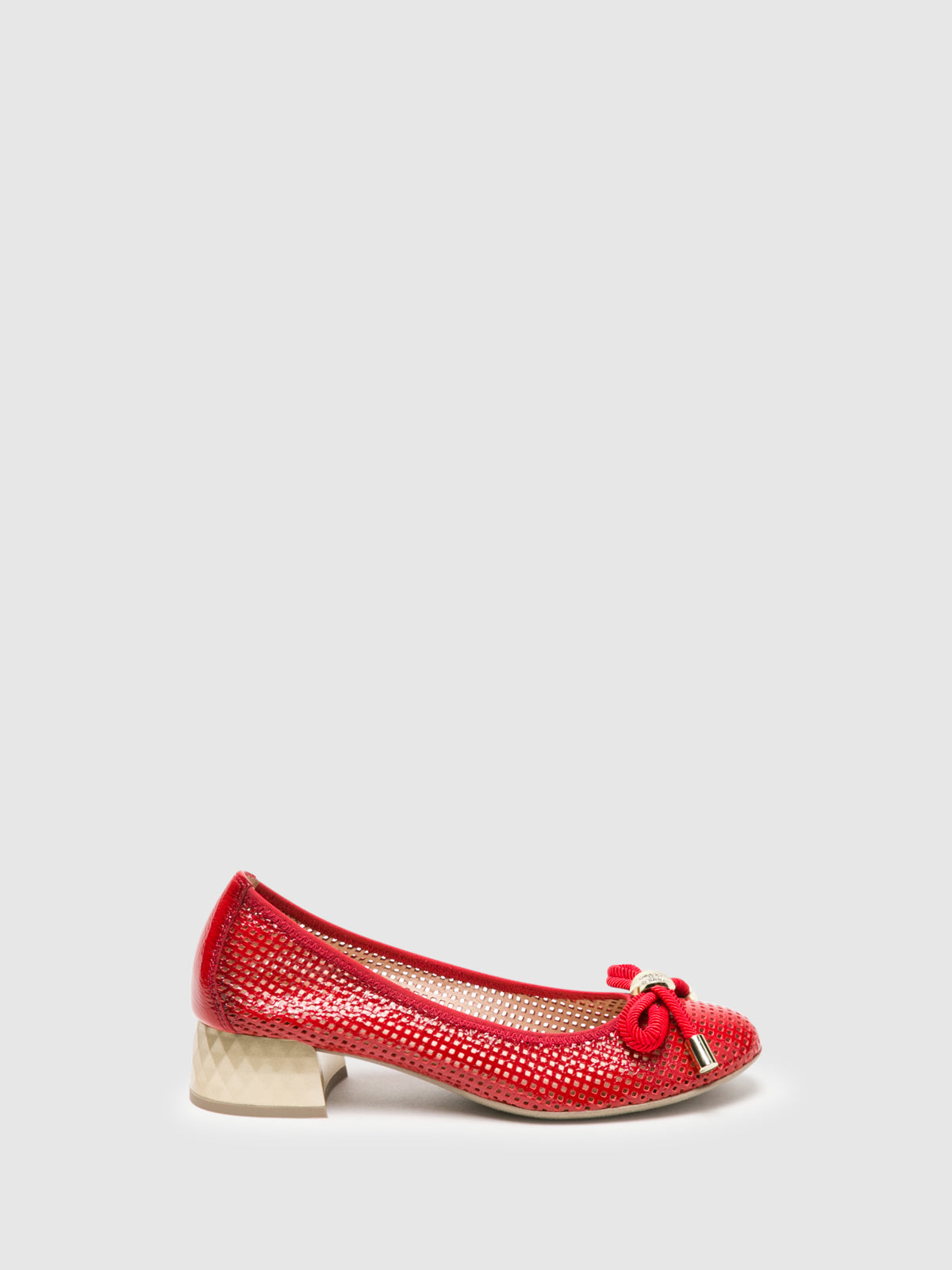 Hispanitas Red Bow Ballerinas