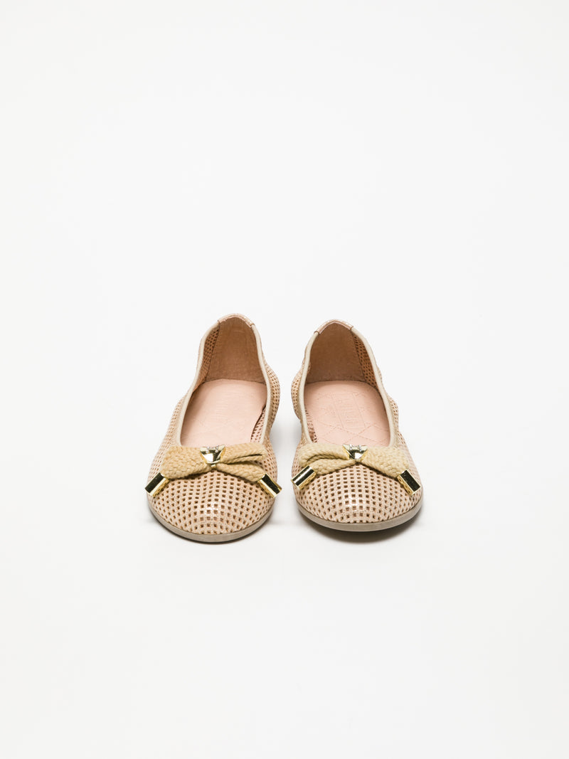 Gold Bow Ballerinas