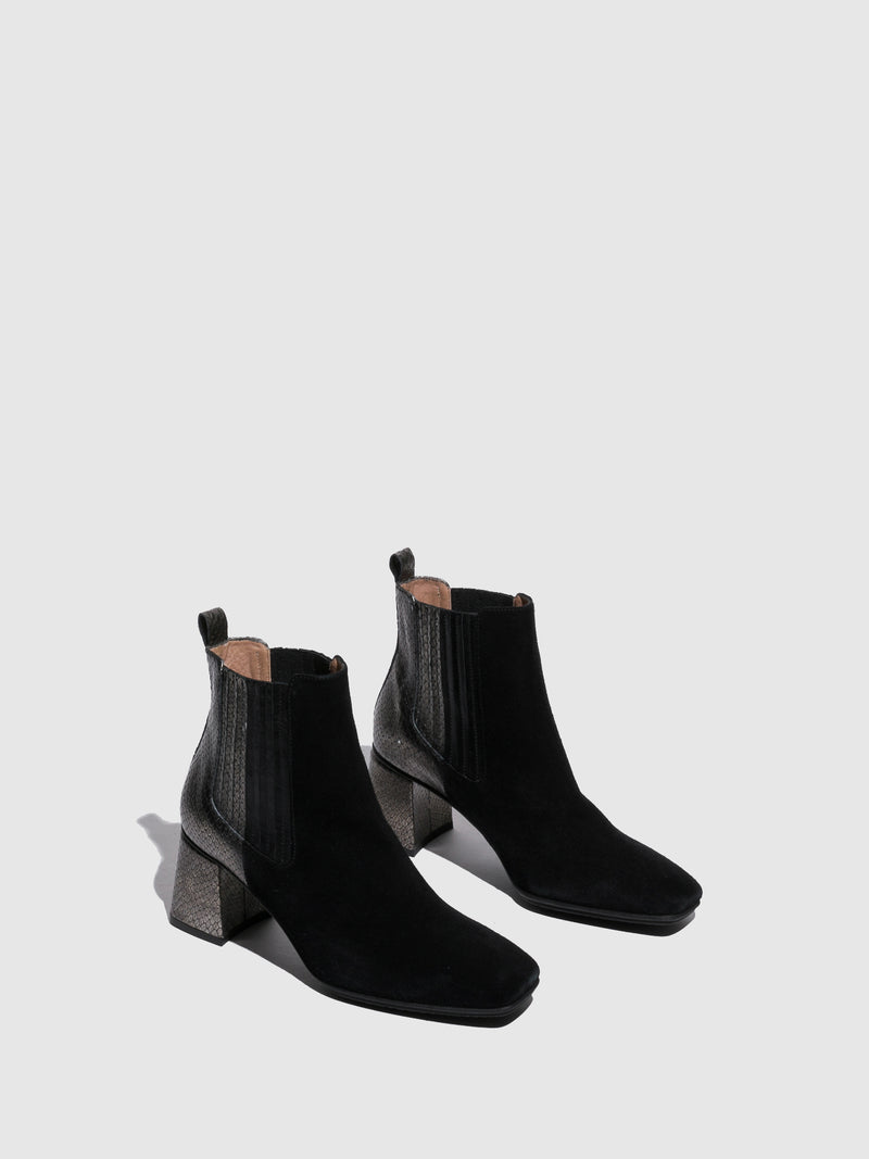 Hispanitas Black Chelsea Ankle Boots