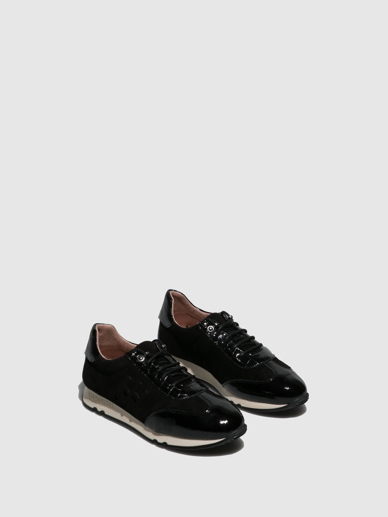 Hispanitas Black Lace-up Trainers