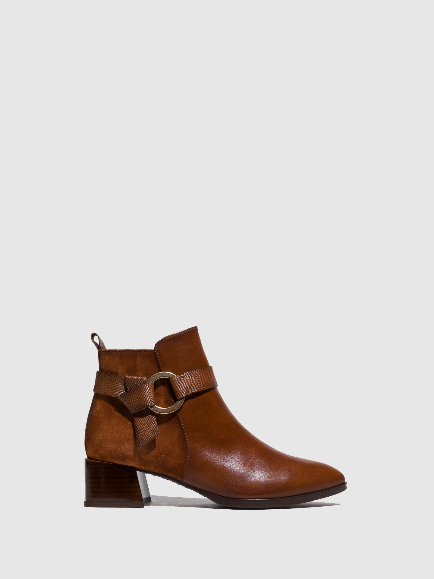 Hispanitas Brown Buckle Ankle Boots
