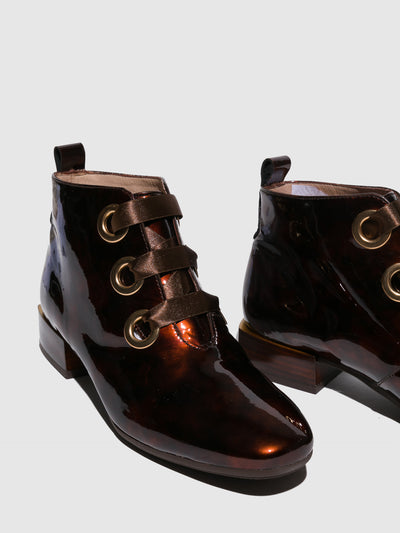 Hispanitas Brown Lace-up Ankle Boots