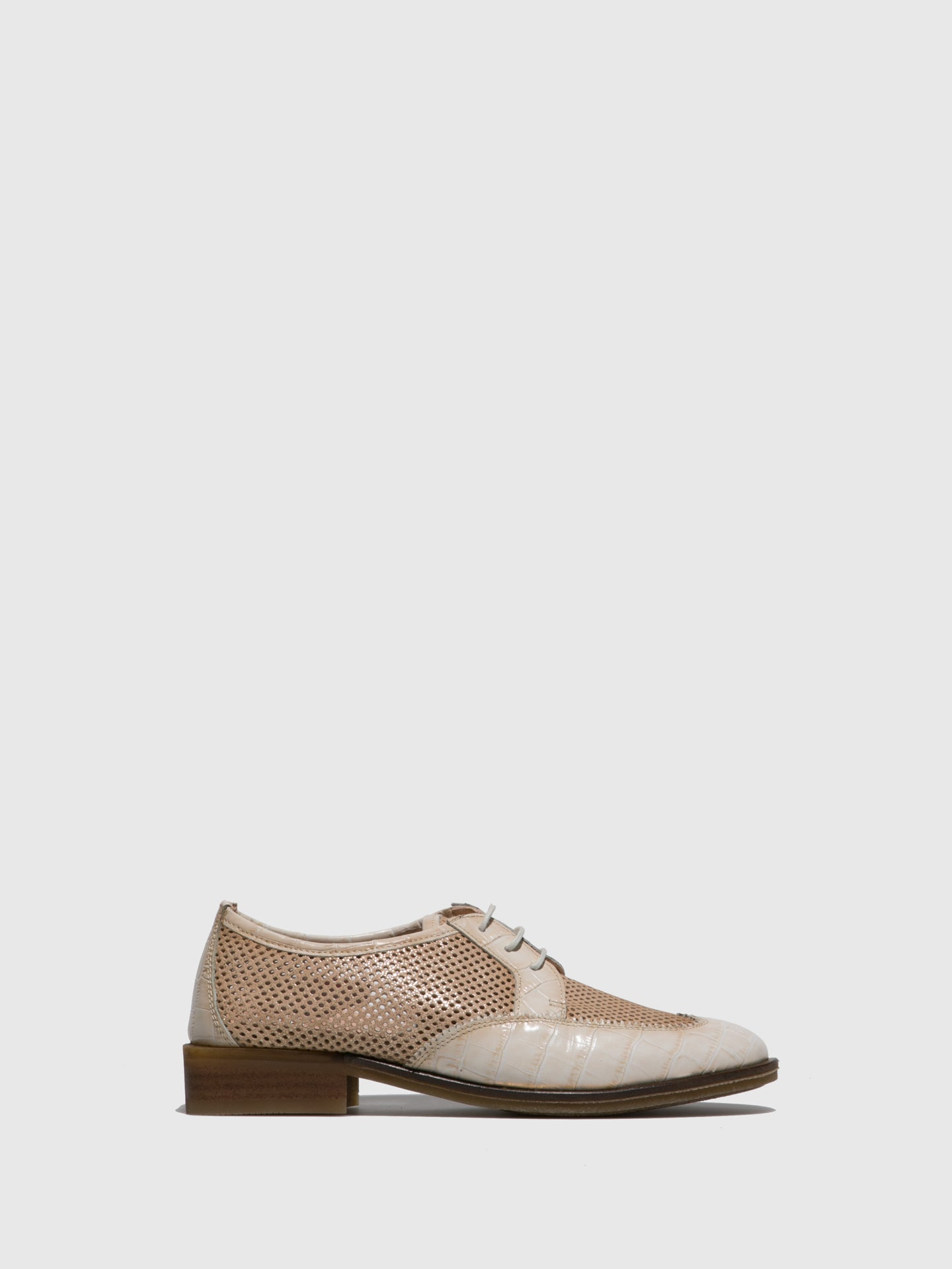 Hispanitas Beige Lace-up Shoes