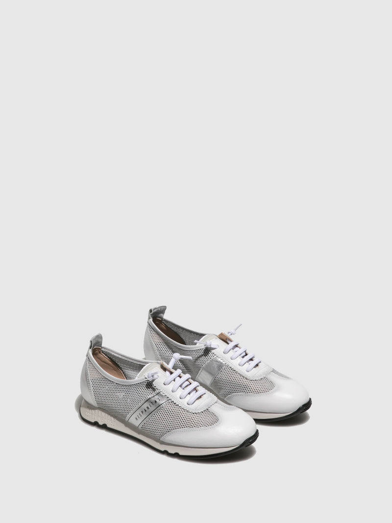 Hispanitas White Lace-up Trainers