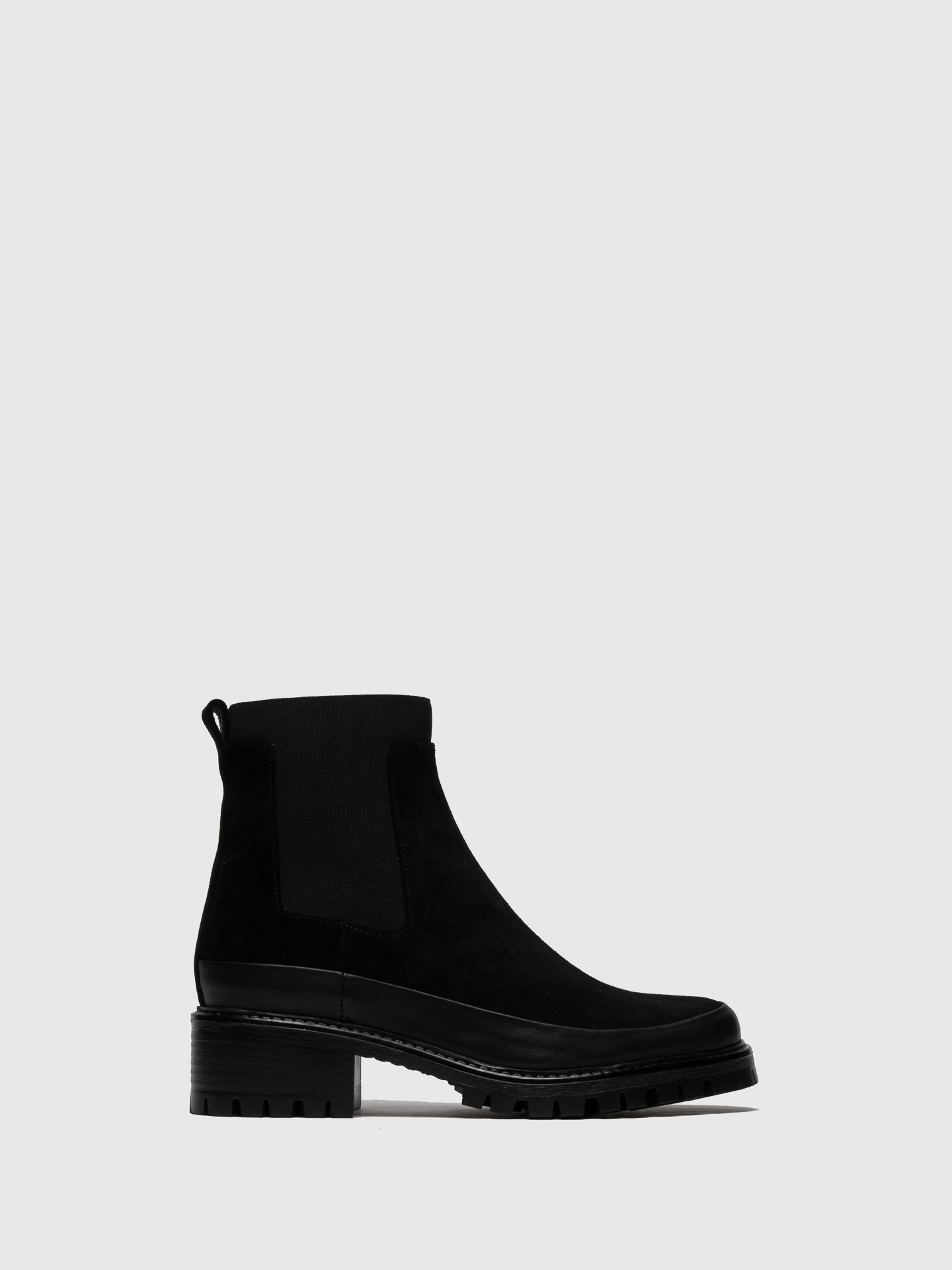 JJ Heitor Black Suede Chelsea Ankle Boots