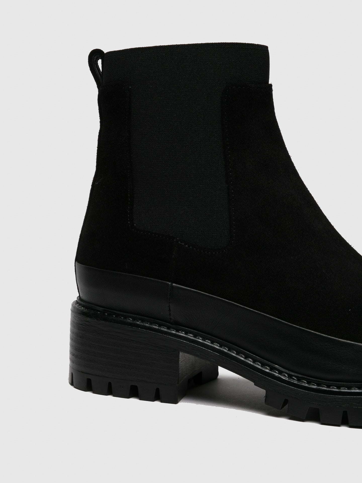 Black Suede Chelsea Ankle Boots - Overcube