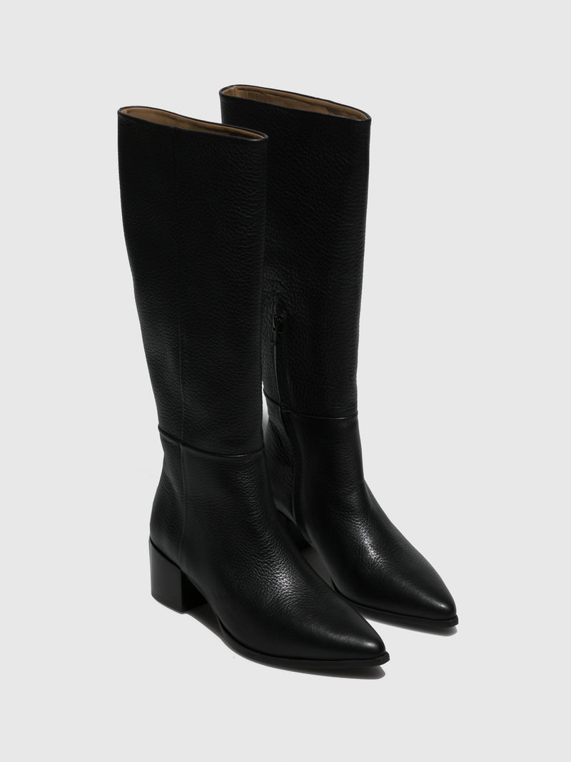 JJ Heitor Black Zip Up Boots