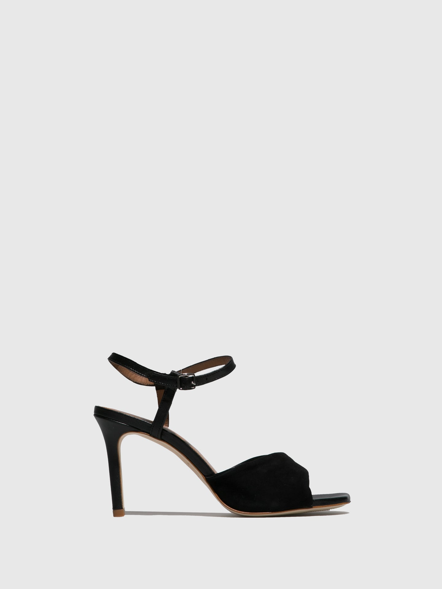 JJ Heitor Black Heel Sandals
