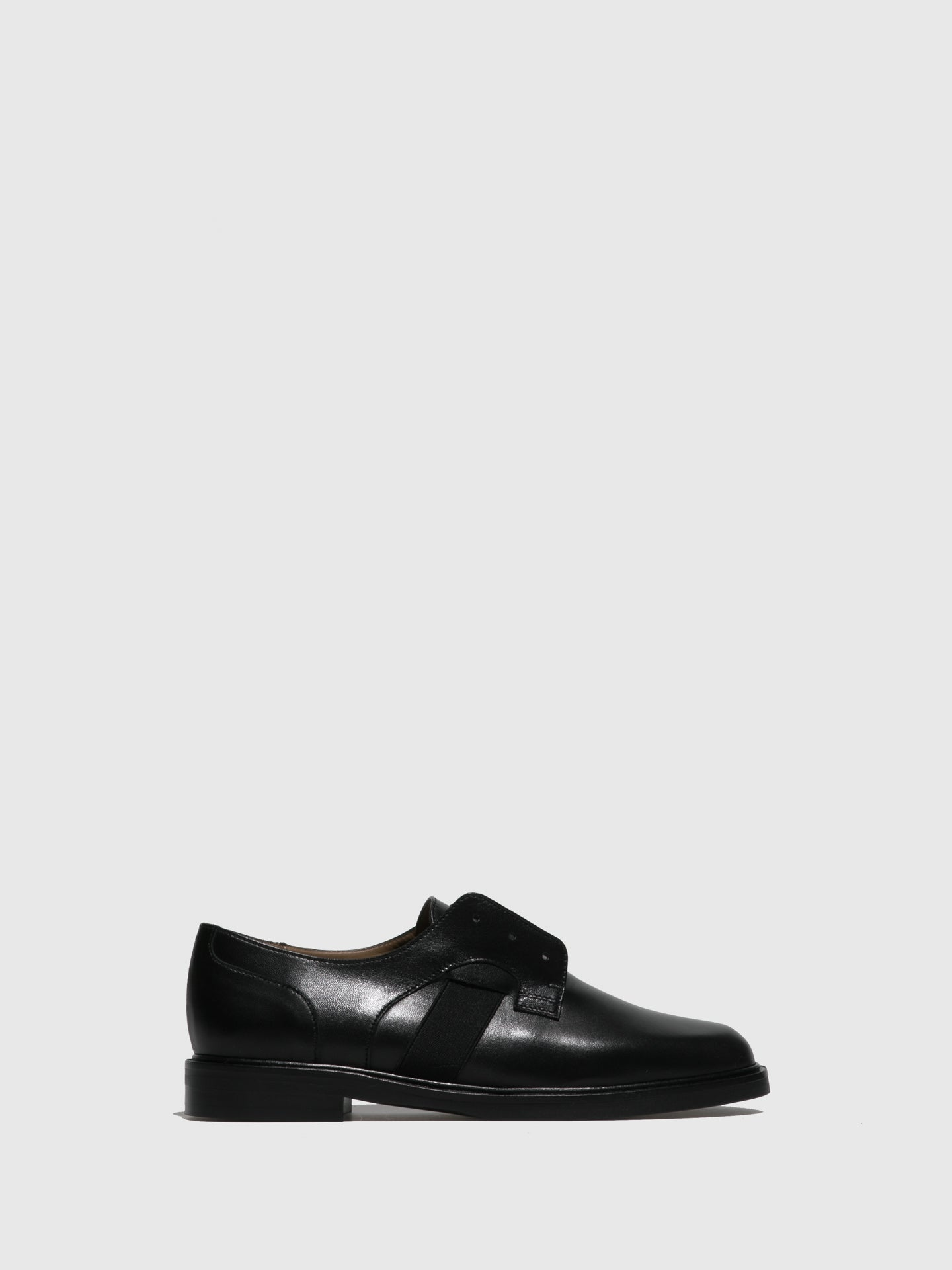 JJ Heitor Black Slip-on Shoes