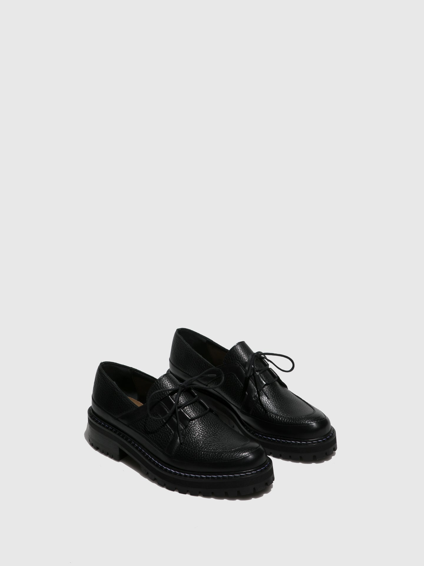 JJ Heitor Black Lace-up Shoes