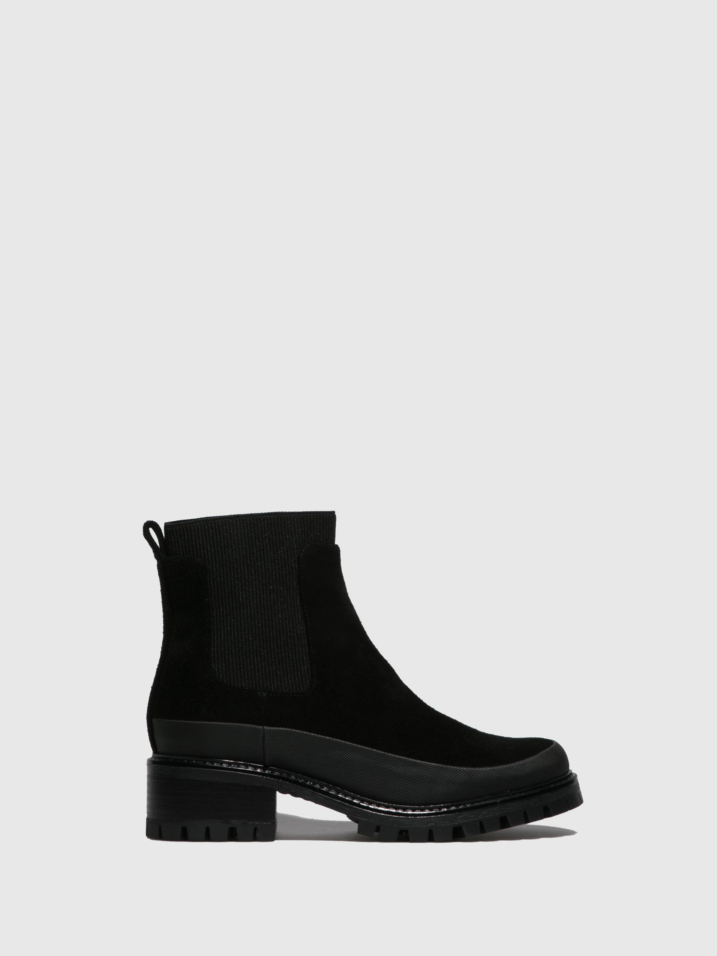 JJ Heitor Black Elasticated Ankle Boots