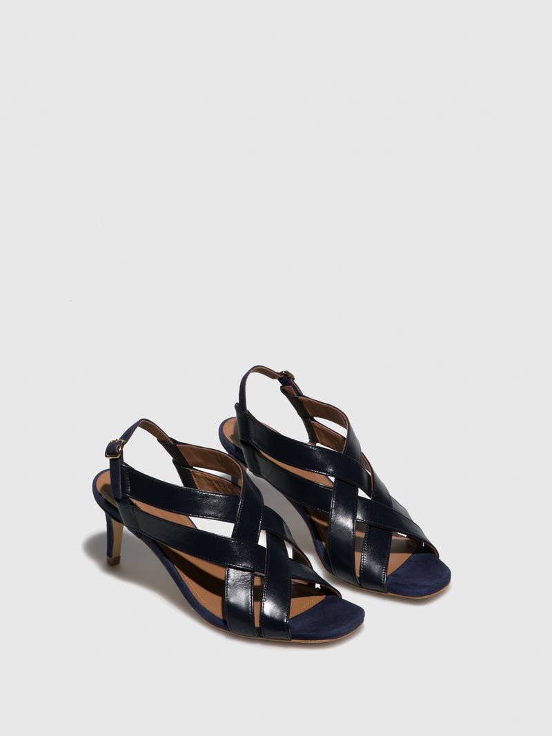 JJ Heitor Blue Heel Sandals