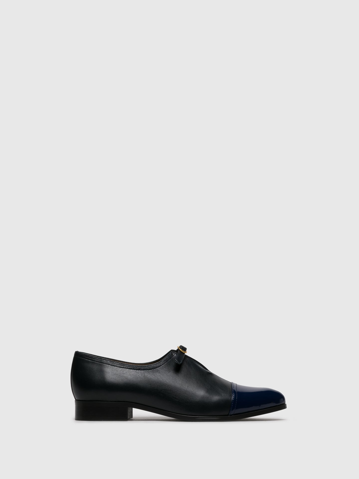 JJ Heitor Navy Suede Pointed Toe Shoes