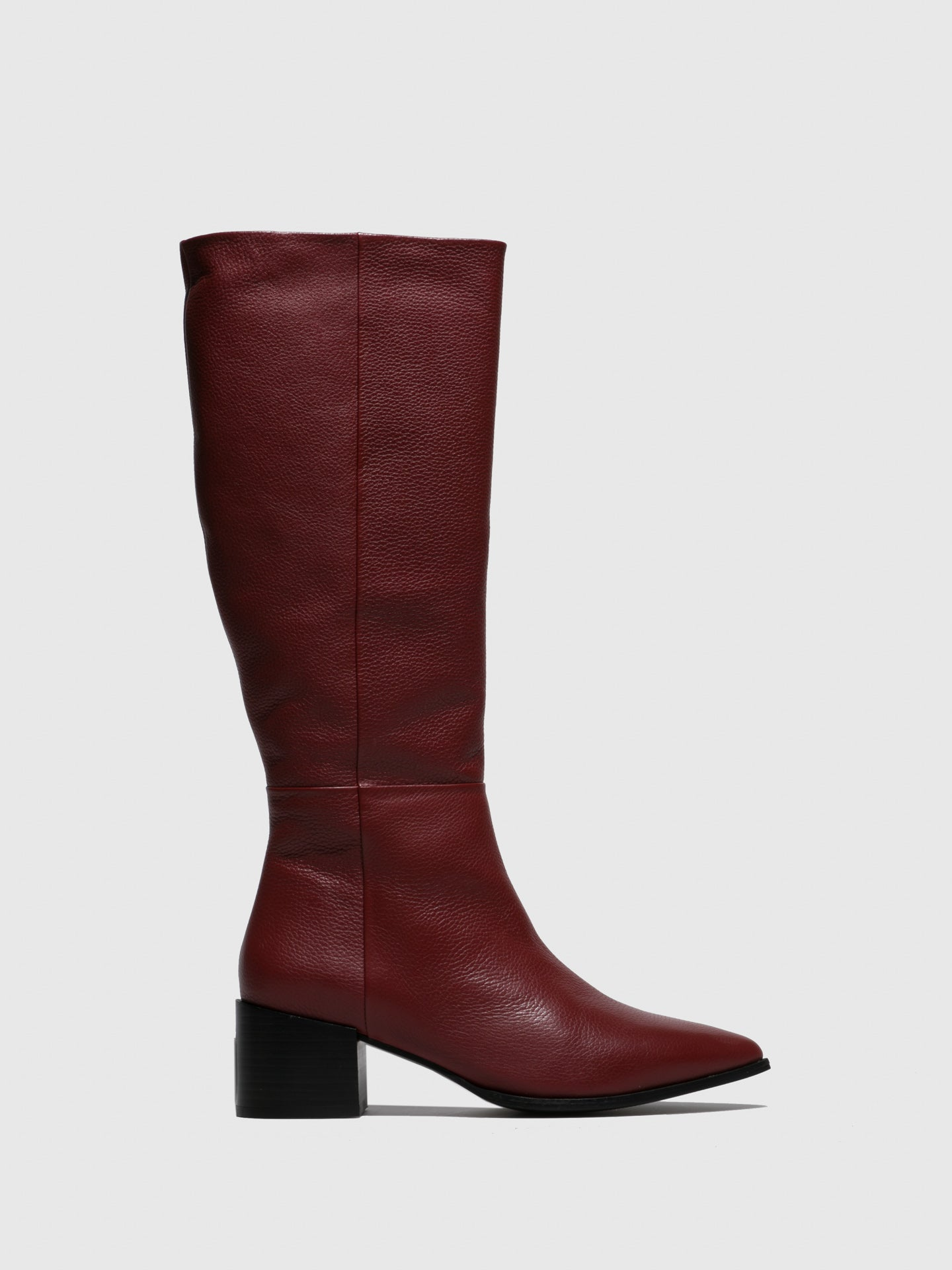 JJ Heitor DarkRed Zip Up Boots