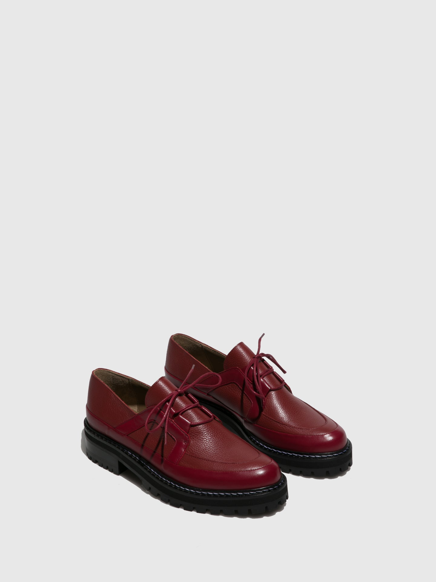 JJ Heitor DarkRed Lace-up Shoes