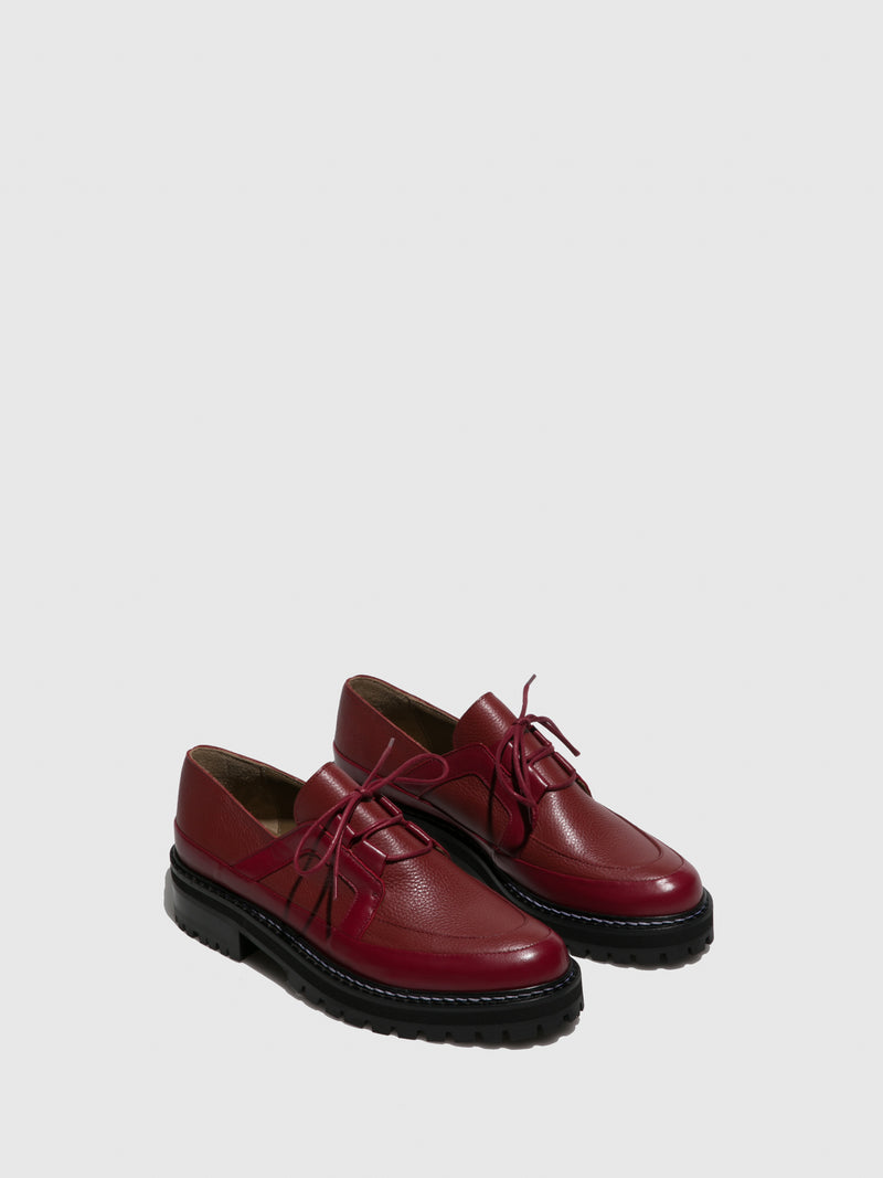 DarkRed Lace-up Shoes