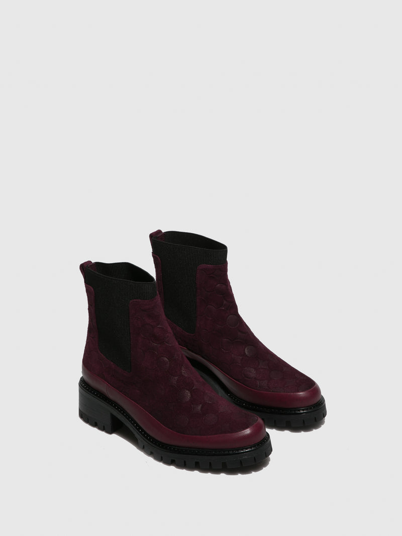 JJ Heitor DarkRed Elasticated Ankle Boots