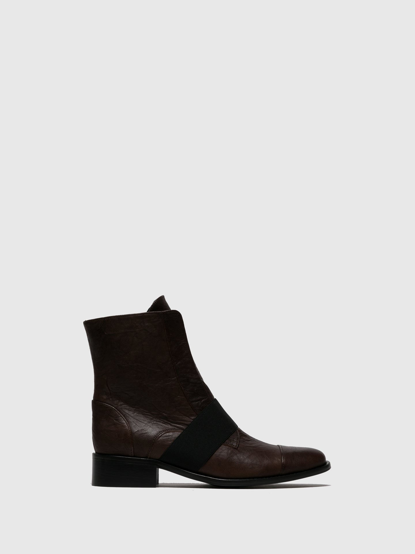 JJ Heitor Brown Elasticated Ankle Boots