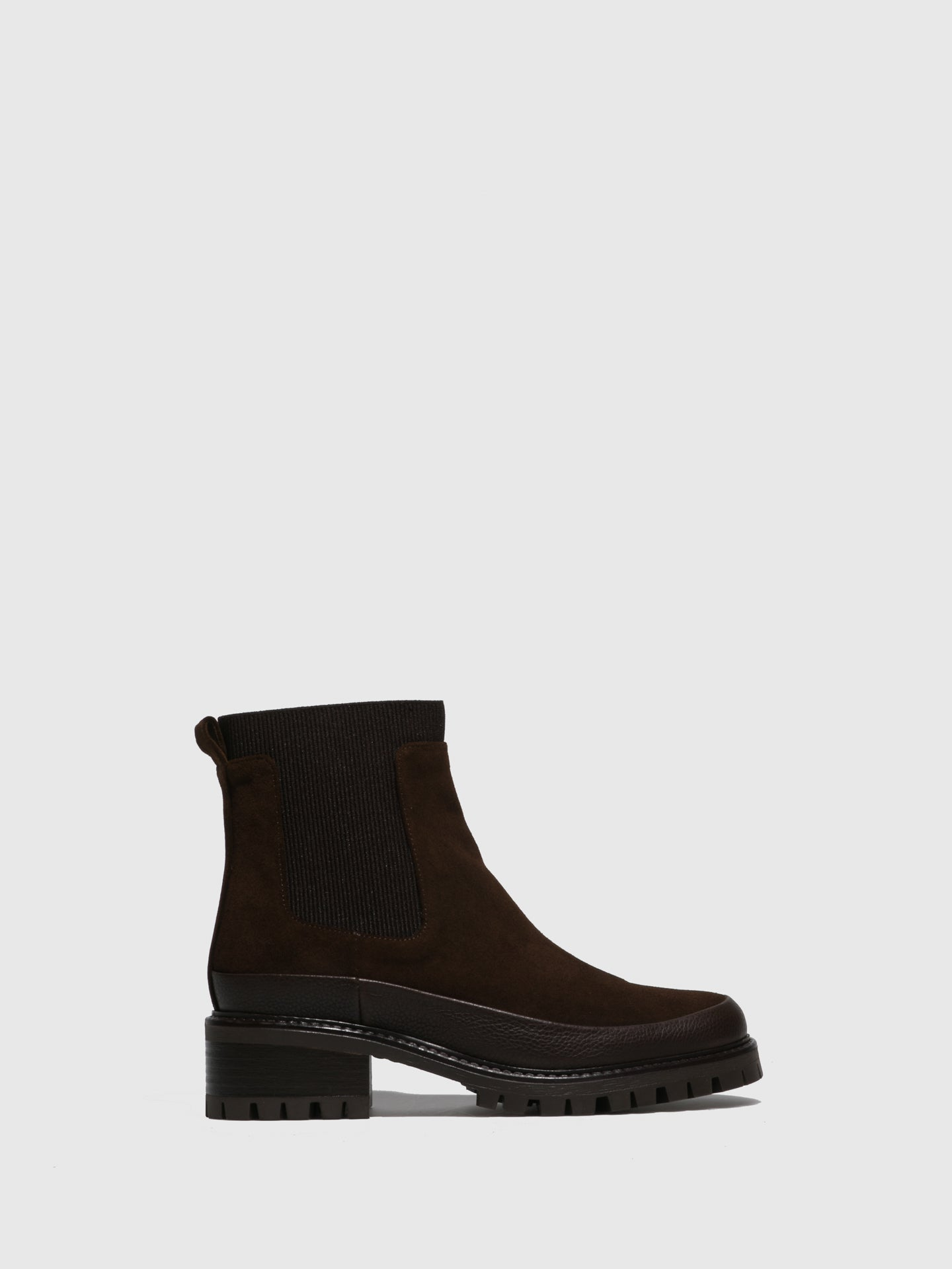 JJ Heitor Brown Leather Elasticated Ankle Boots
