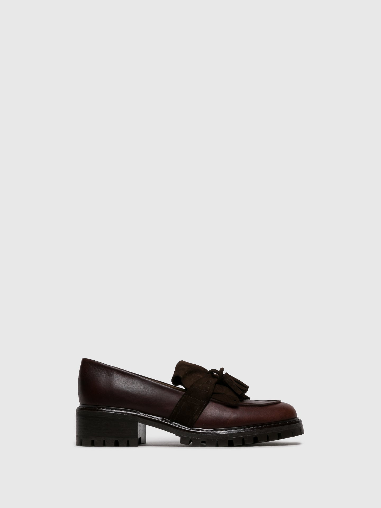 JJ Heitor Brown Leather Loafers Shoes