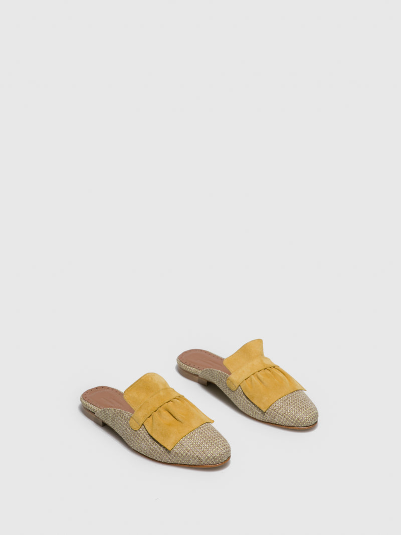 Yellow Flat Mules
