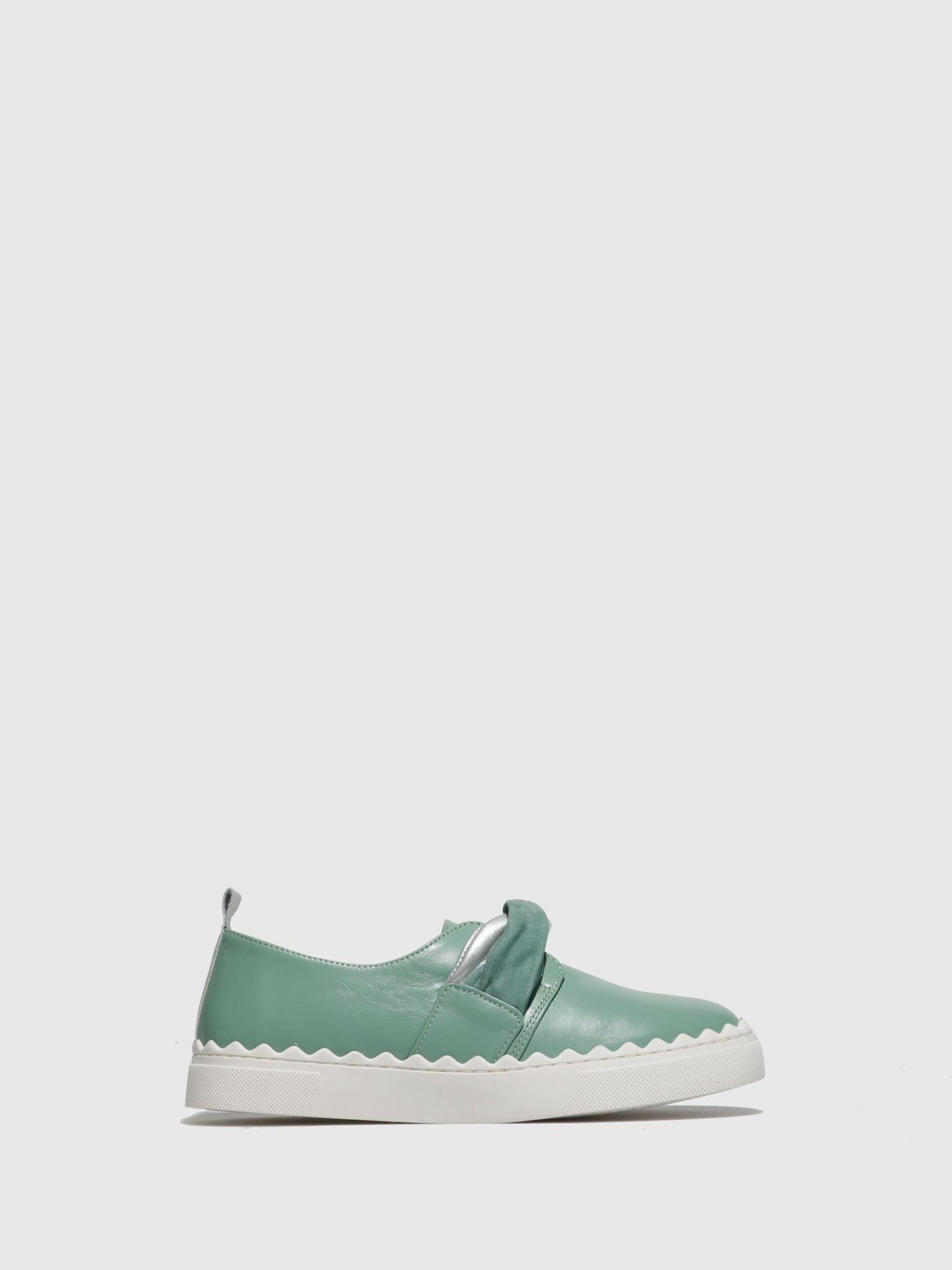 JJ Heitor Green Leather Slip-on Shoes