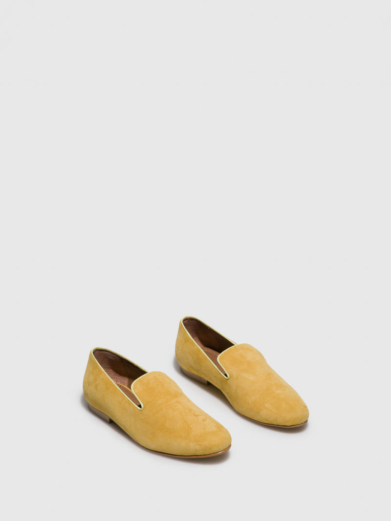 Yellow Suede Loafers Shoes