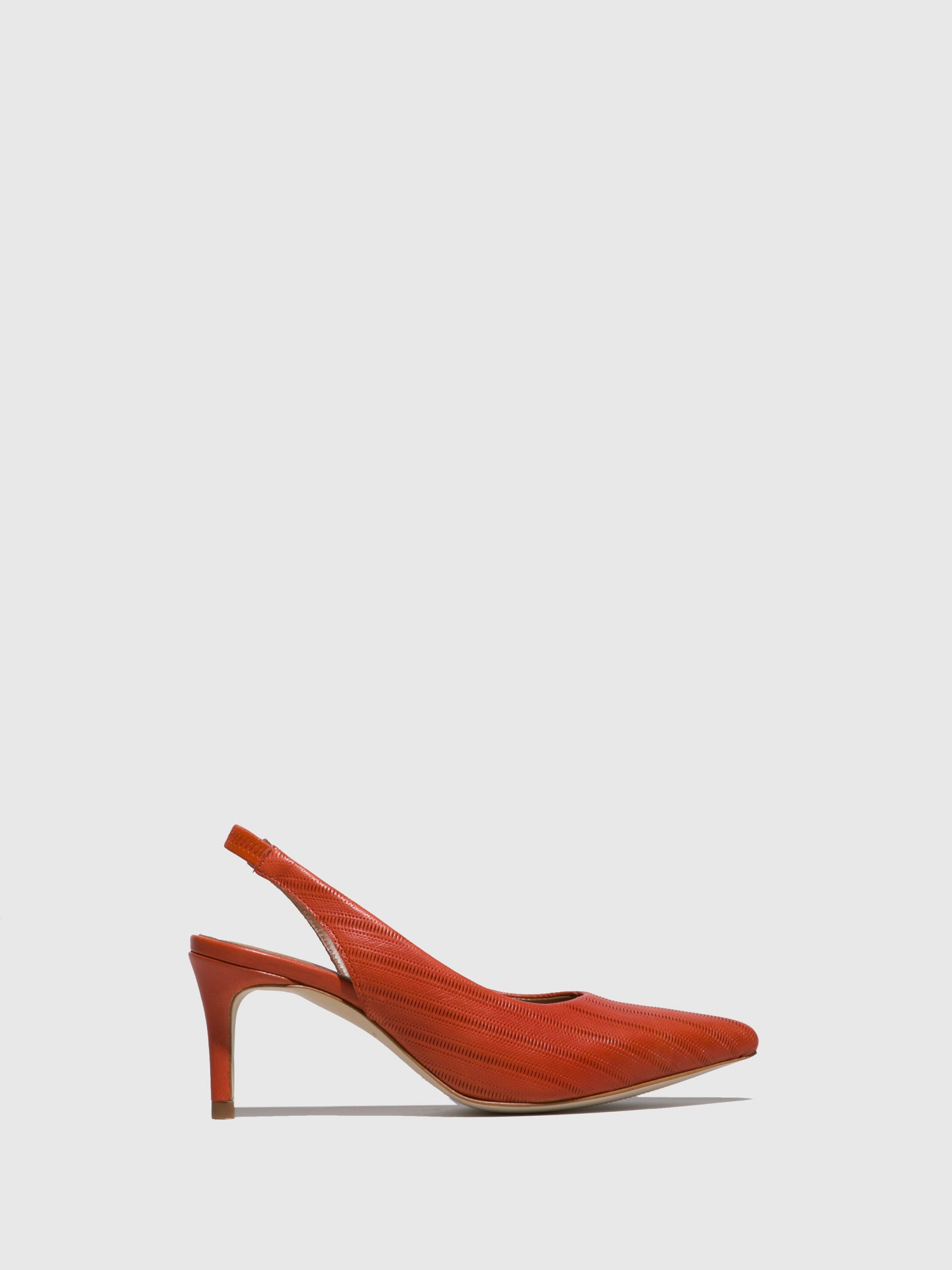 JJ Heitor Orange Leather Stiletto Mules