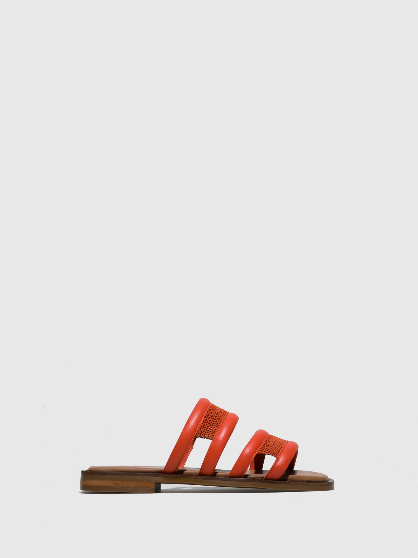 JJ Heitor Orange Flat Sandals