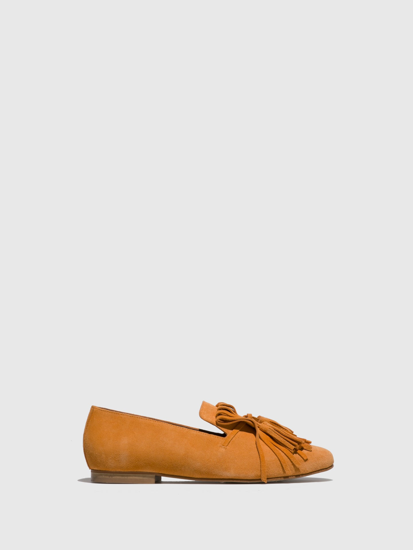JJ Heitor Orange Suede Loafers Shoes