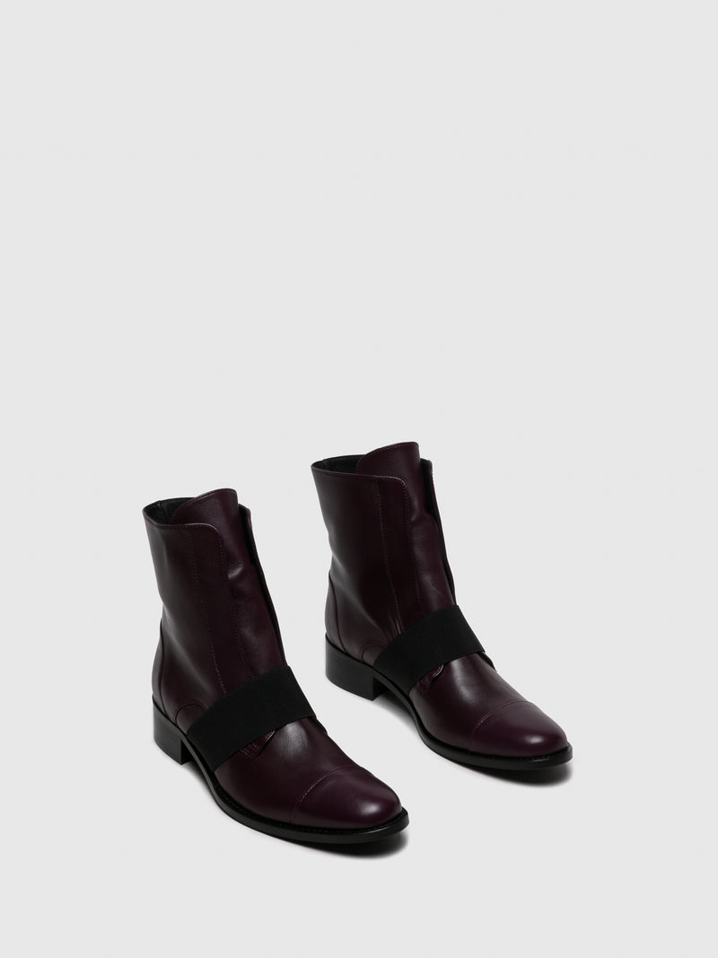 Purple Elasticated Ankle Boots