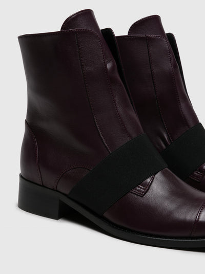 JJ Heitor Purple Elasticated Ankle Boots