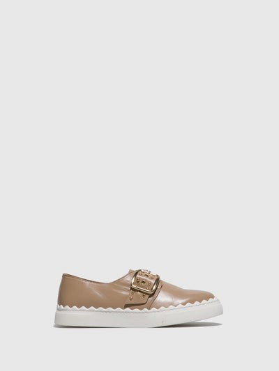 JJ Heitor Beige Leather Slip-on Shoes