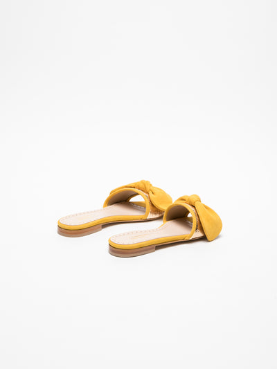 JJ Heitor Yellow Open Toe Mules