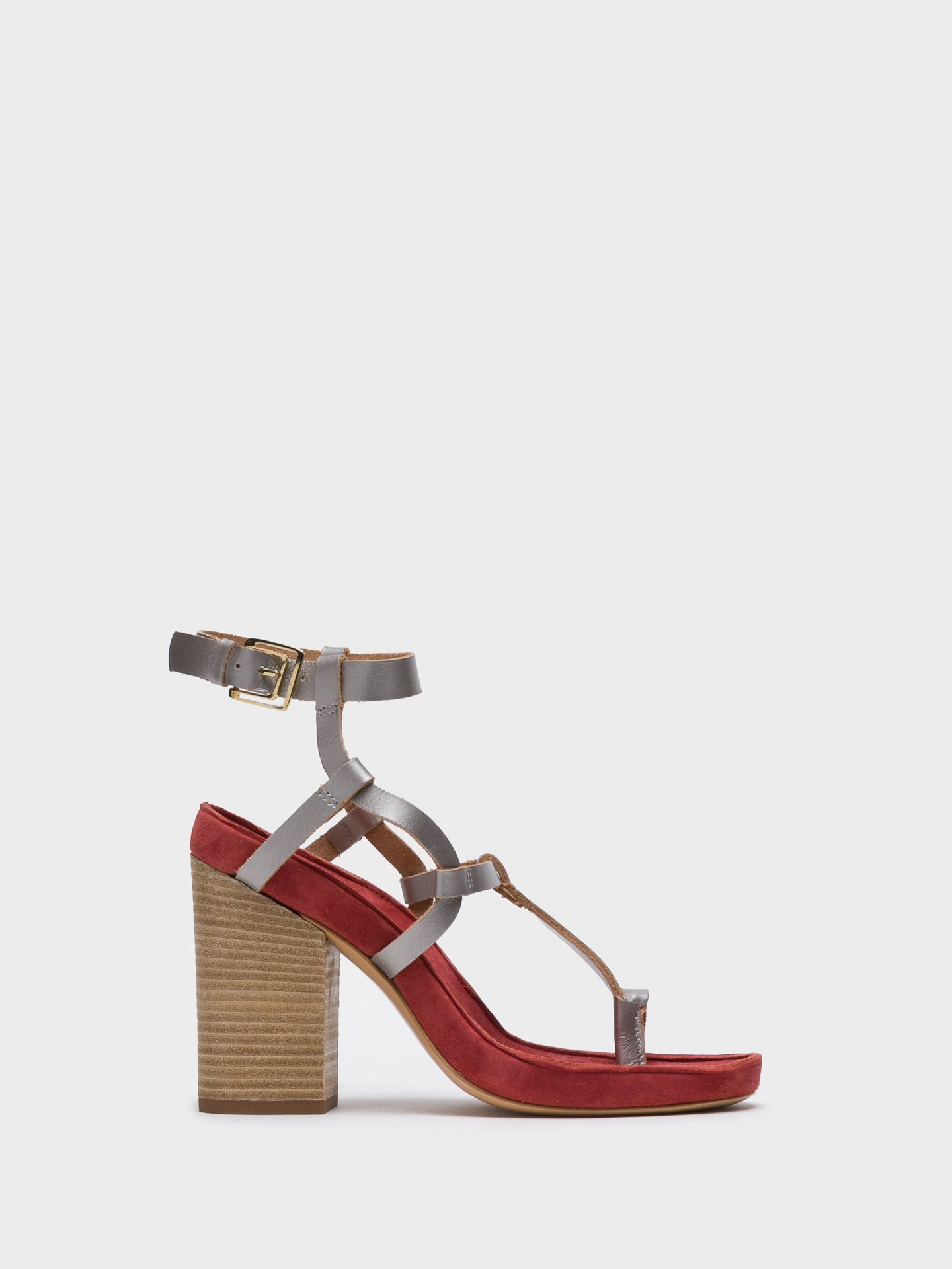 JJ Heitor Multicolor Ankle Strap Sandals