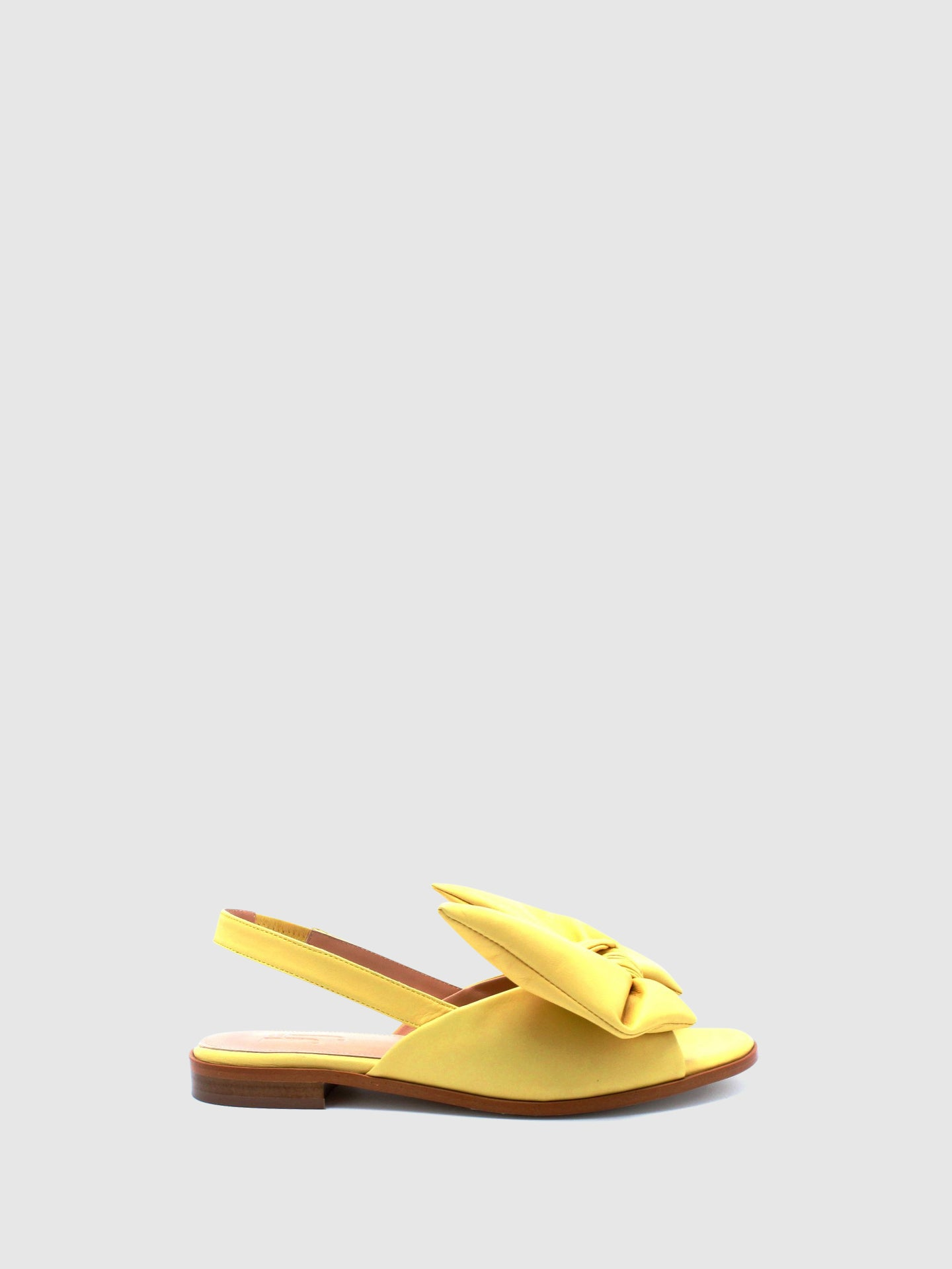 JJ Heitor Yellow Leather Flat Sandals