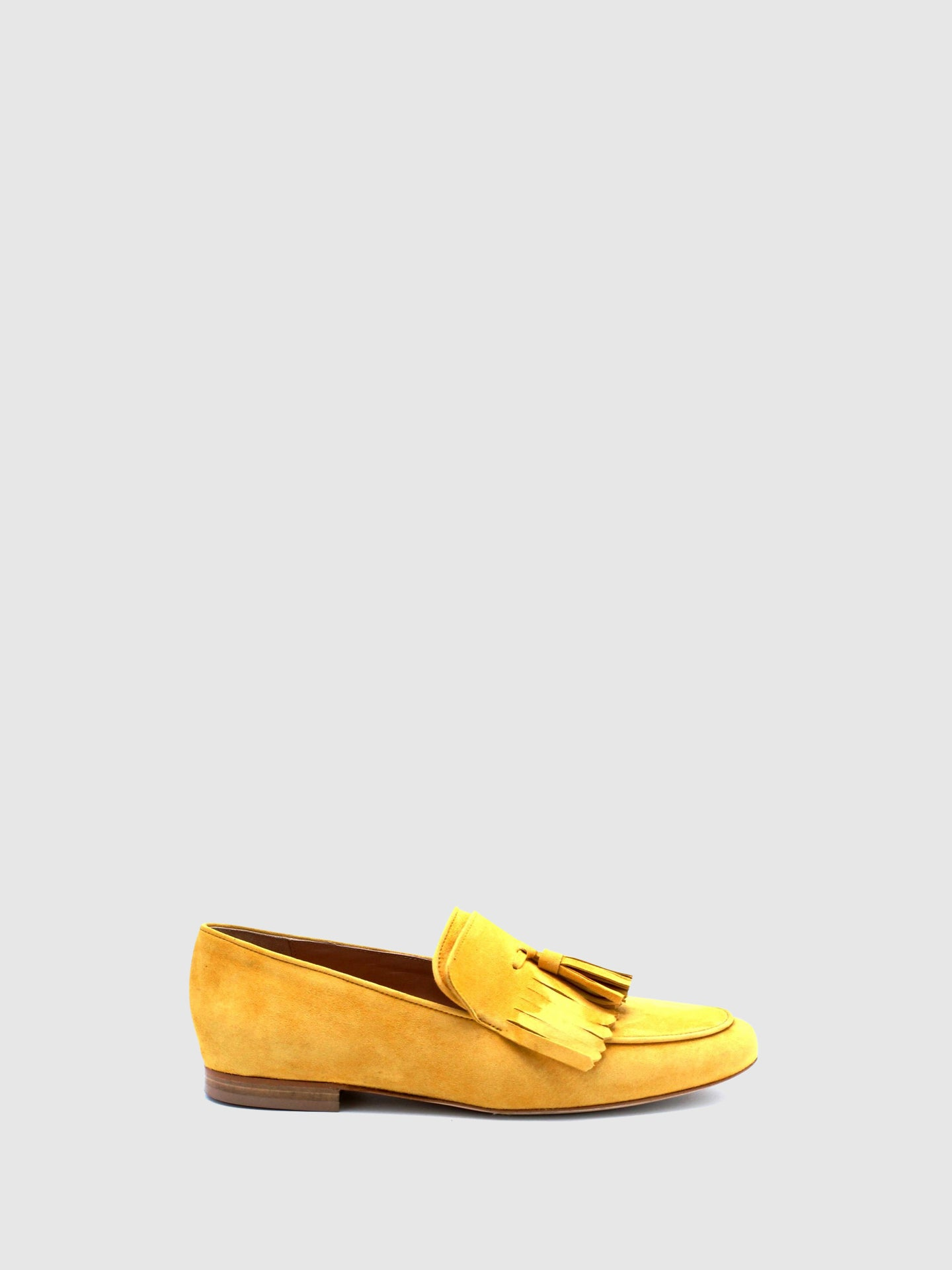 JJ Heitor Yellow Suede Loafers Shoes