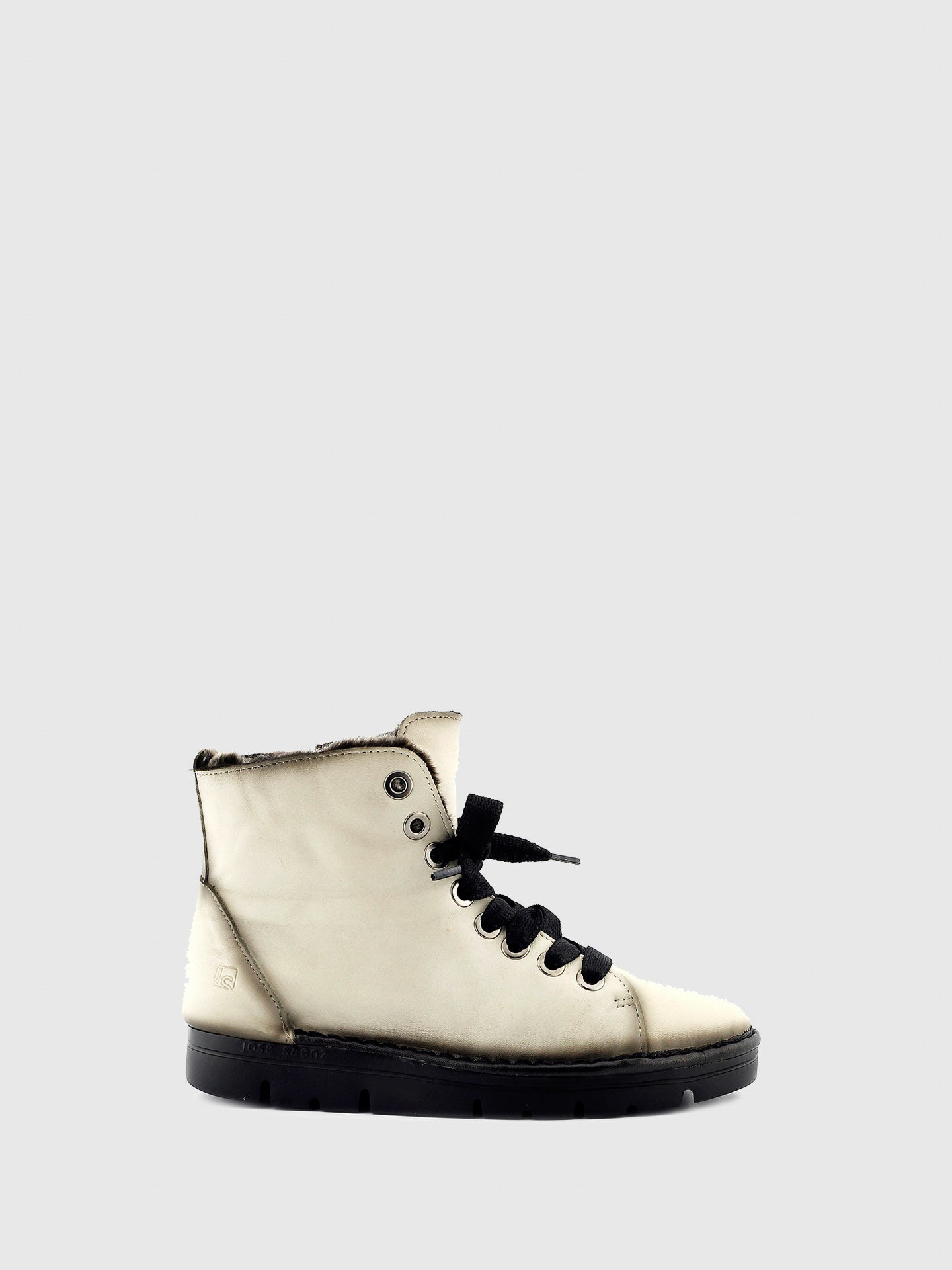 Jose Saenz White Zip Up Ankle Boots