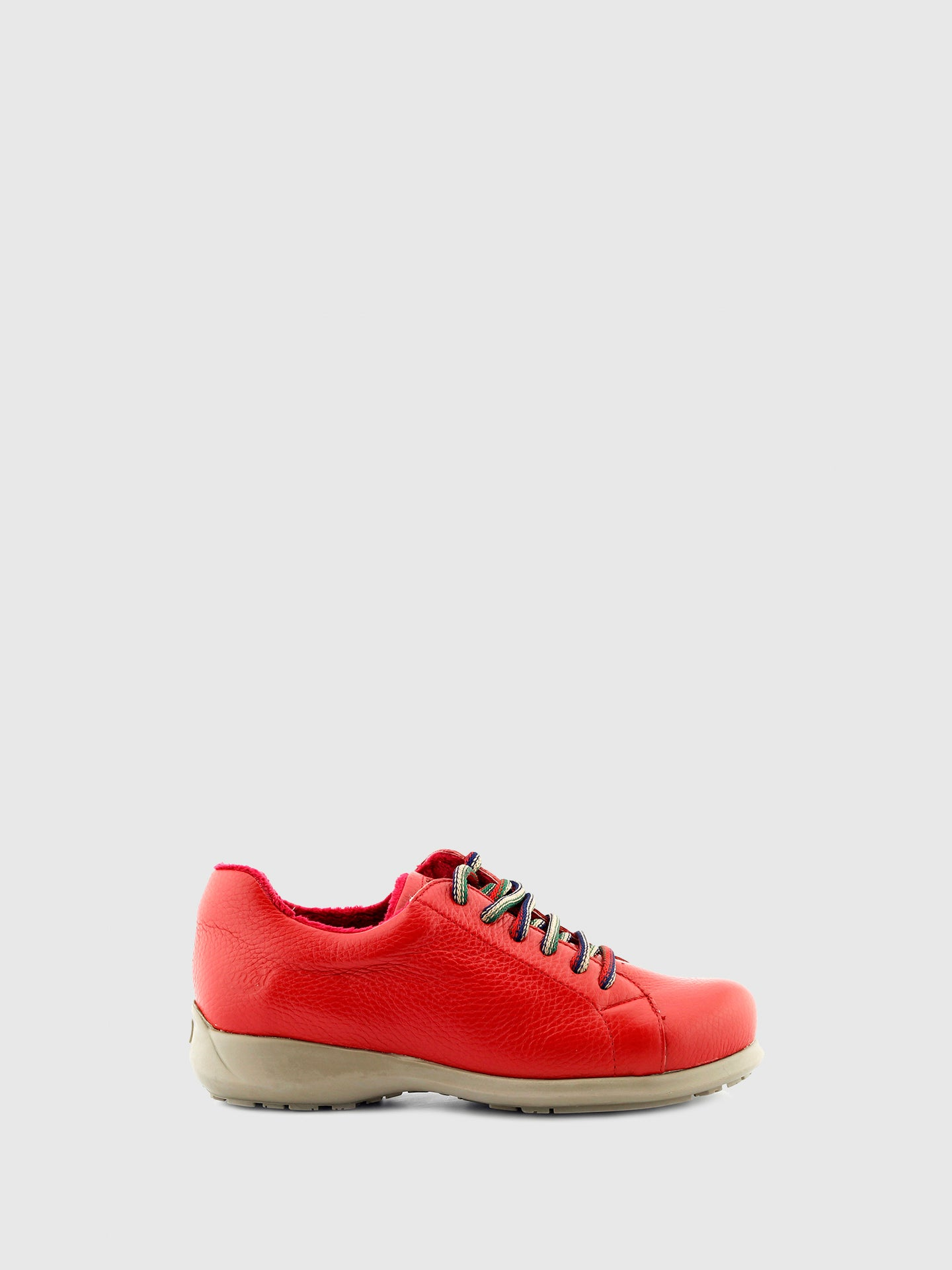 Jose Saenz Red Lace-up Shoes